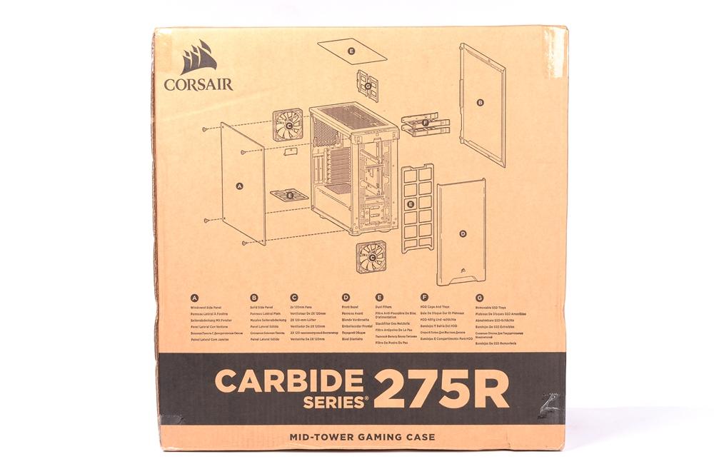CORSAIR 海盗船 CARBIDE SERIES 275R机箱评测