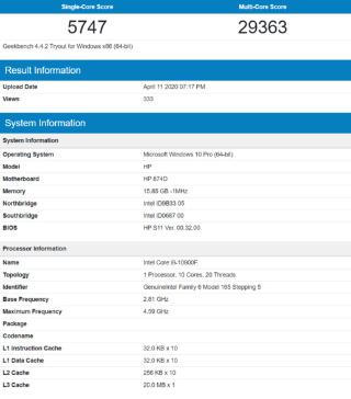 i9-10900F和R9 4900HS性能跑分对比评测