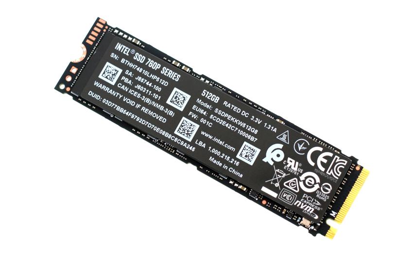 英特尔 760p SSD 固态硬盘 评测