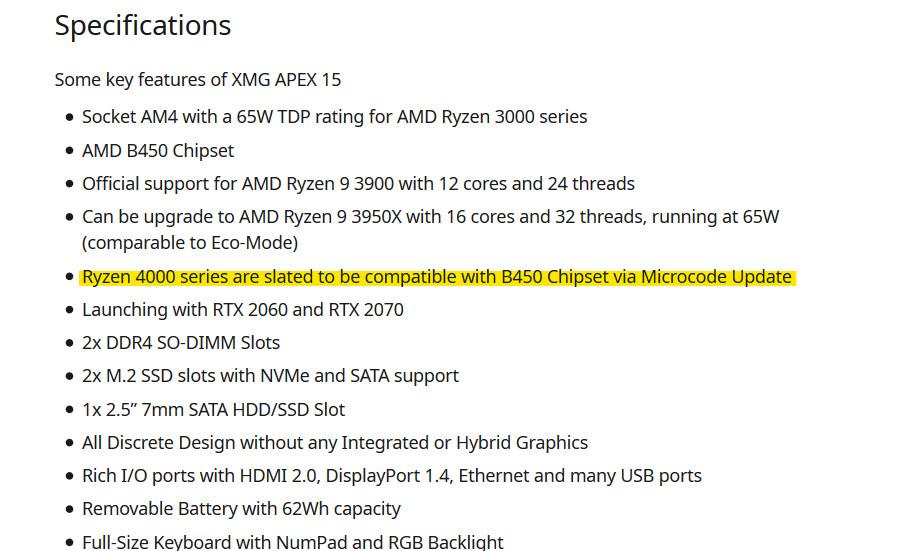 """AMD Ryzen 4000系列 """"Vermeer """"CPU将兼容B450主板"""