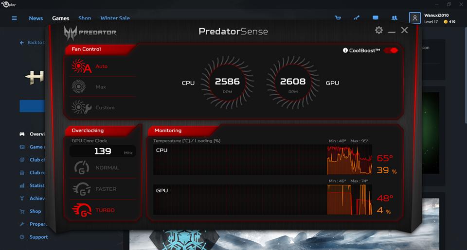 宏碁 掠夺者 Acer Predator Helios 300 评测
