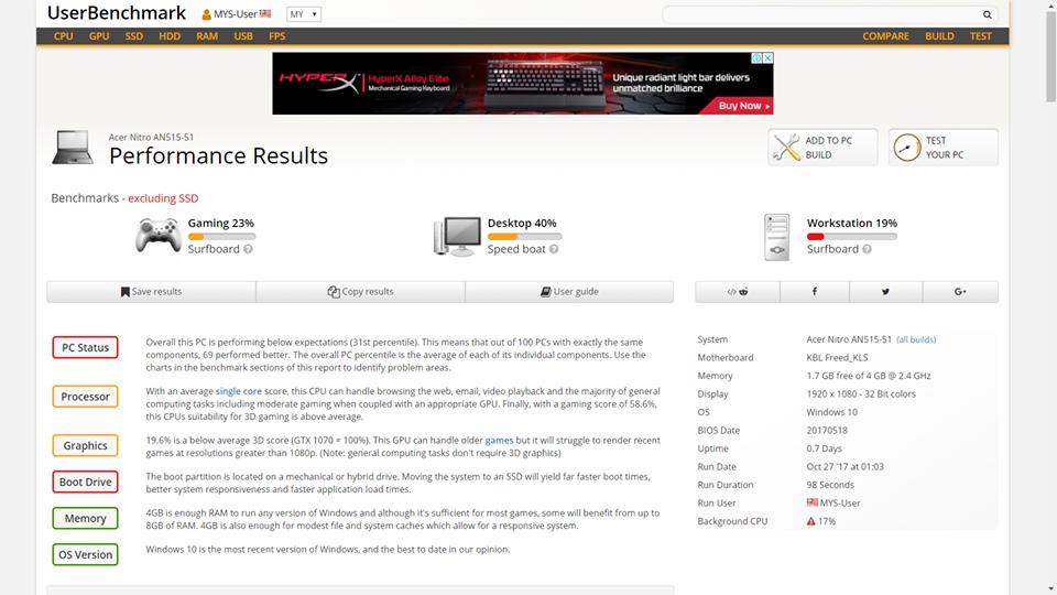宏碁Acer Nitro 5 评测